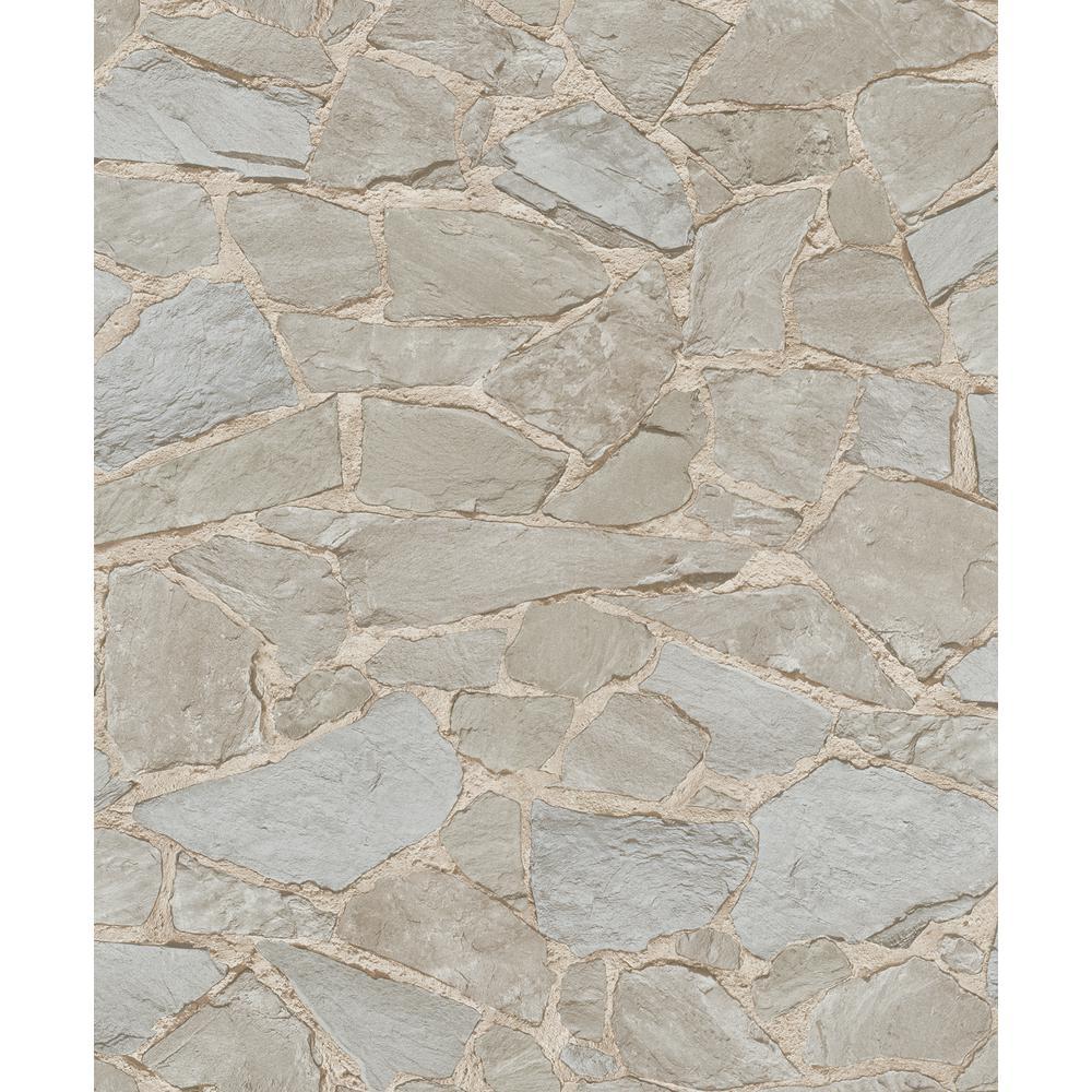 Marburg 8 in. x 10 in. Stanley Brown Stone Wallpaper Sample