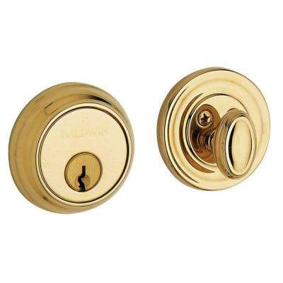 Single Cylinder Polished Brass Deadbolt