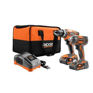 RIDGID 18V Drill/Driver & Impact Driver 2-Tool Kit w/Batteries Bundle