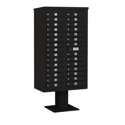 3400 Horizontal Series 29-Compartment Pedestal Mount Mailbox