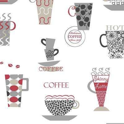 Norwall Coffee Time Vinyl Strippable Roll Wallpaper Covers 56 Sq Ft Fk34427 The Home Depot