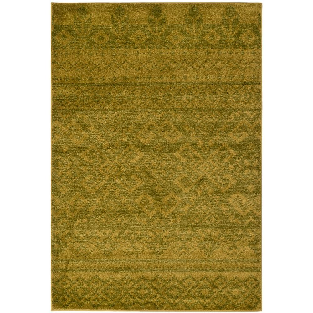 Adirondack Green/Dark Green 4 ft. x 6 ft. Area Rug