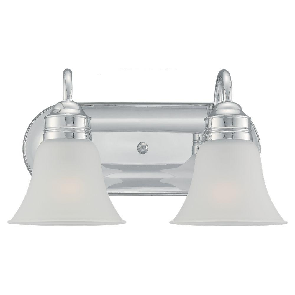 Sea Gull Lighting Gladstone 2 Light Chrome Vanity Fixture