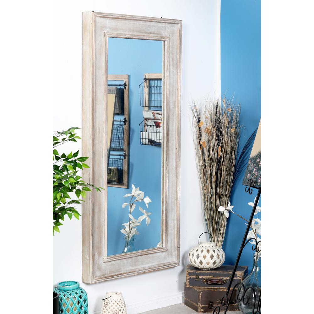 Rectangular Distressed Brown Door/Wall Mirror