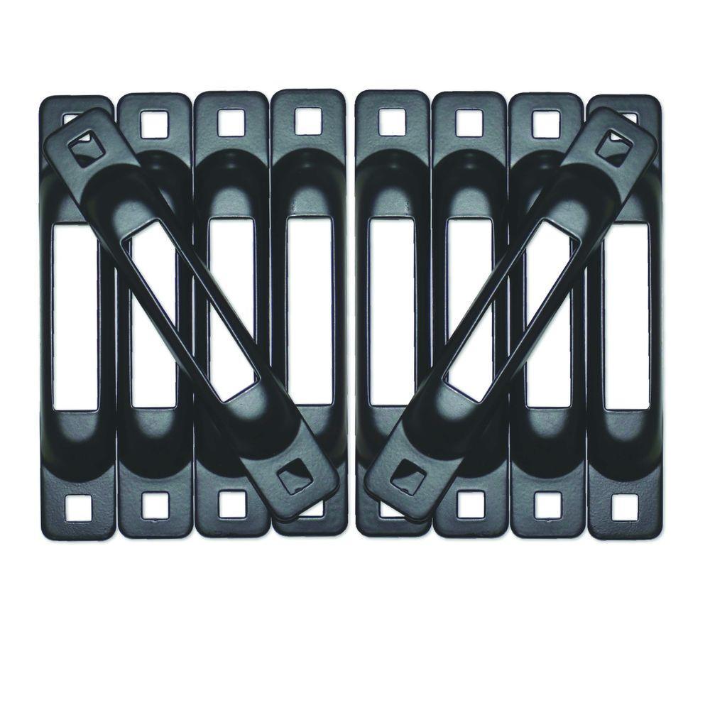 E-Track Single Strap Anchor in Black (10-Pack)