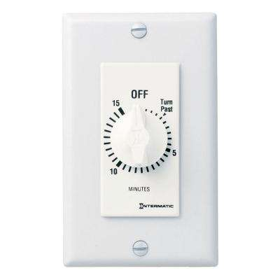 FD Decorator Series 20 Amp 15-Minute In-Wall Auto-Off Spring Wound Timer, White