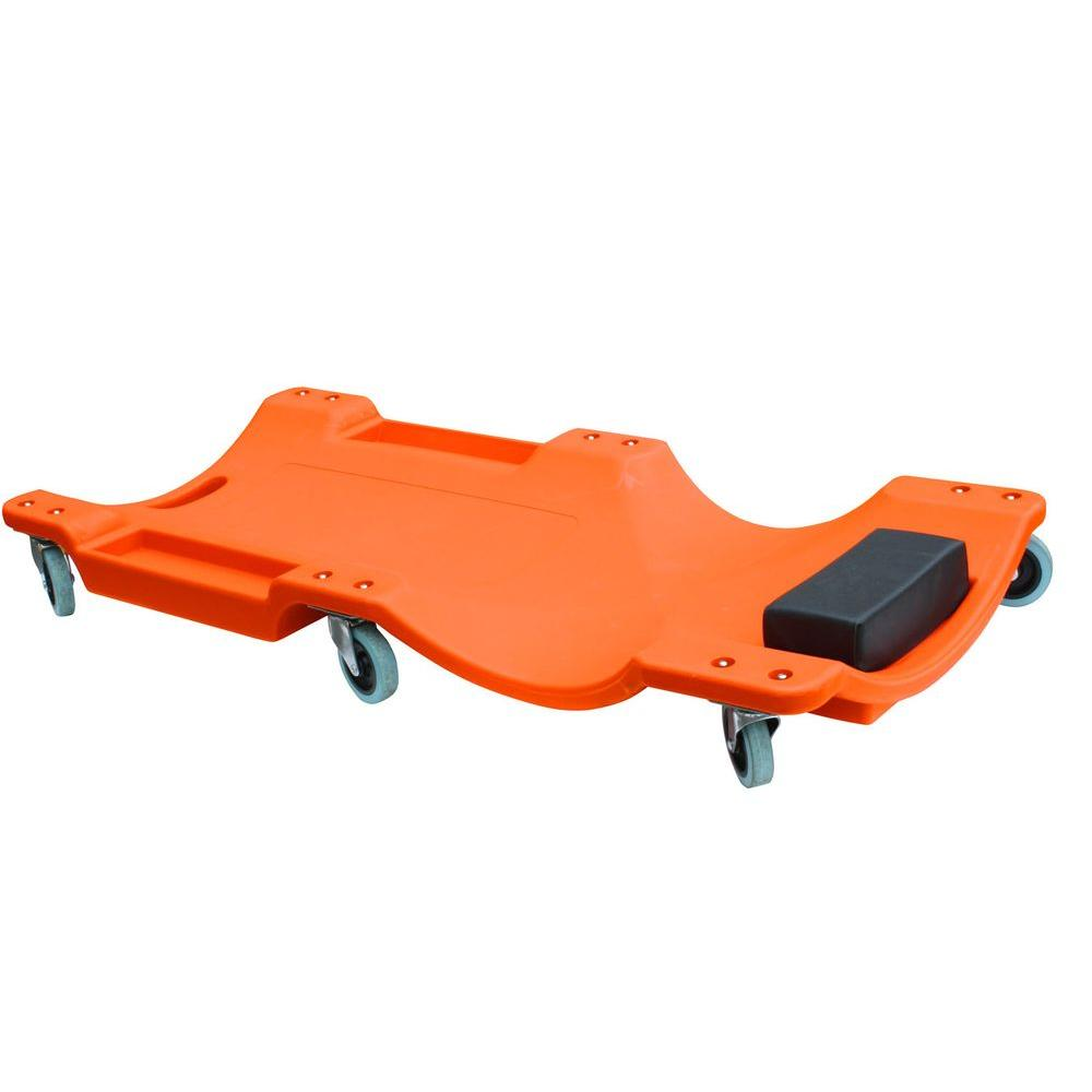 40 in. 6-Wheel Molded Plastic Creeper