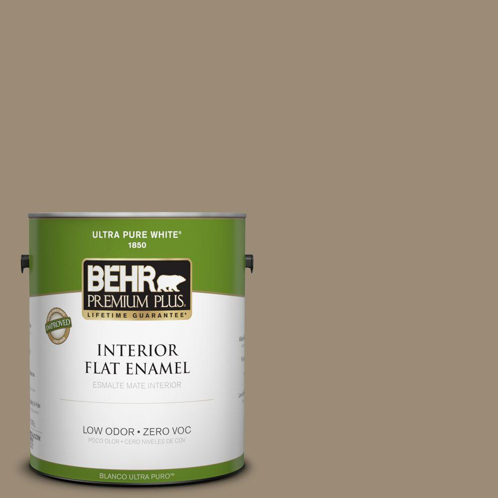 BEHR Premium Plus 1-gal. #740D-5 Twig Basket Zero VOC Flat Enamel Interior Paint-DISCONTINUED