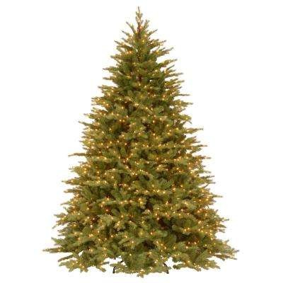 9 ft. Feel Real Nordic Spruce Medium Hinged Artificial Christmas Tree with Clear Lights