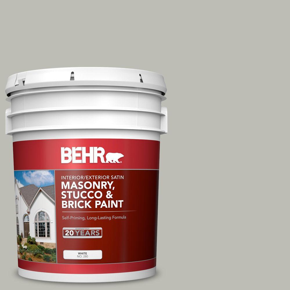 5 gal. #MS-80 Granite Satin Interior/Exterior Masonry, Stucco and Brick Paint