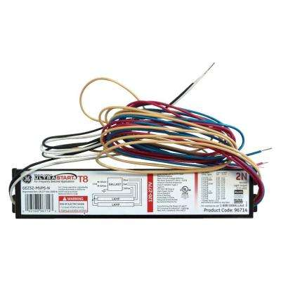 120 to 277-Volt Electronic Program Start Ballast for 2 or 1-Lamp T8 Fixture (Case of 10)