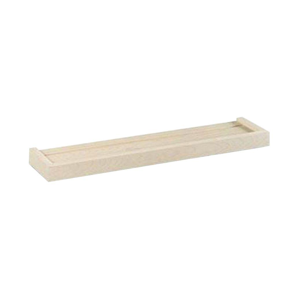 24 in. x 5.25 in. Unfinished Euro Floating Wall Shelf