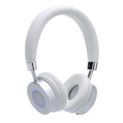 KB-200 Premium Kid's Bluetooth Wireless Headphones with Volume Limit Controls (Max 85dB) with Microphone in White