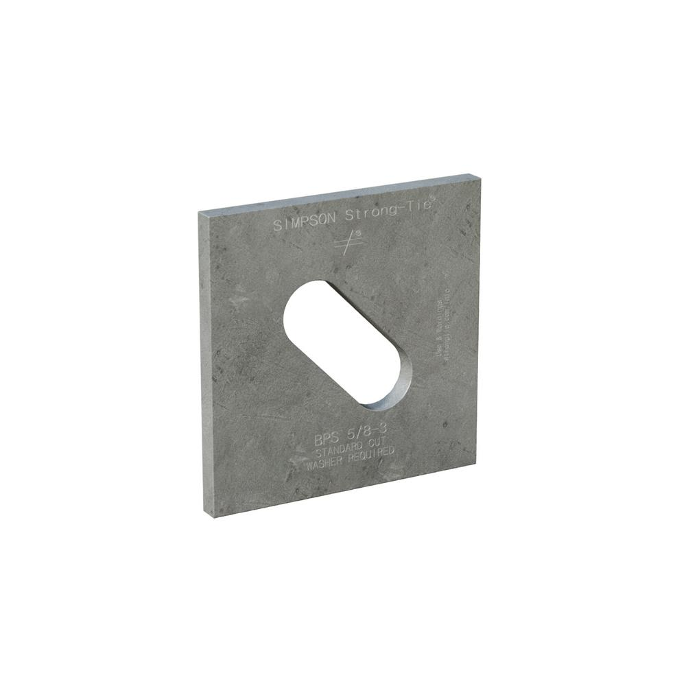 3 in. x 3 in. Hot-Dip Galvanized Slotted Bearing Plate with