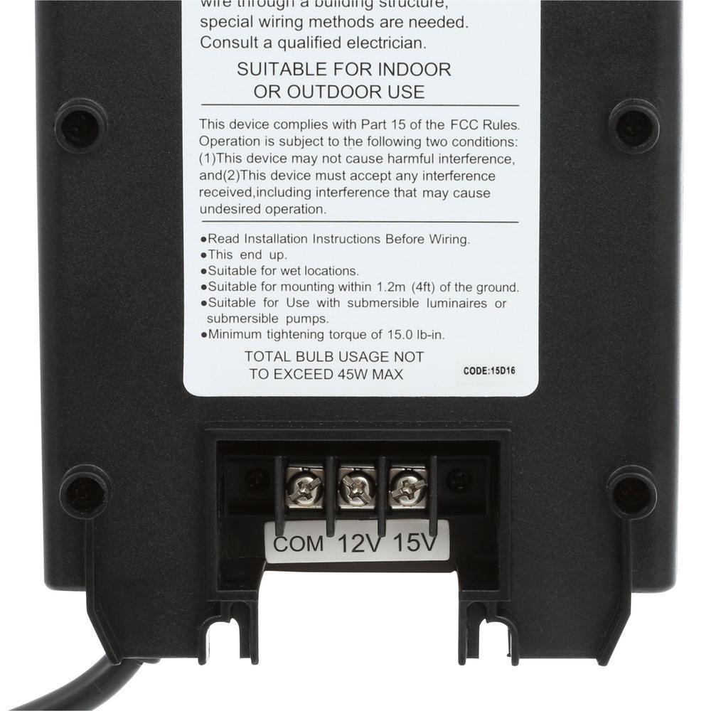 Hampton Bay 600 Watt Low Voltage Transfoermer Low-Voltage ...