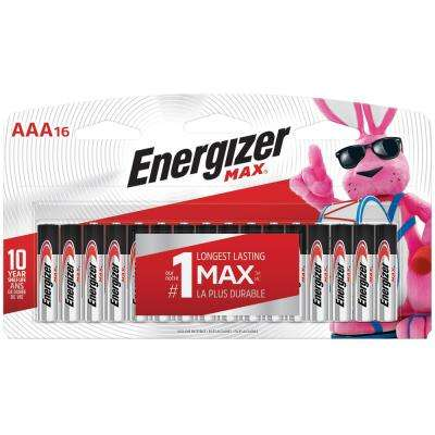 MAX Alkaline AAA Battery (16-Pack)