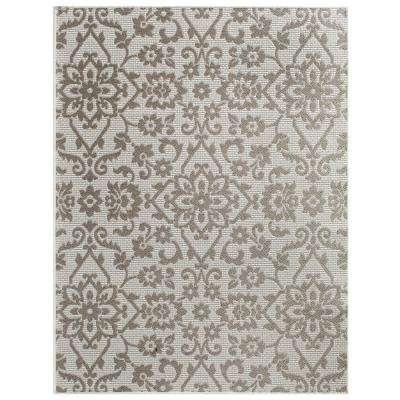 Nantucket Modale Ecru/Heather 8 ft. x 10 ft. Rectangle Indoor/Outdoor Area Rug