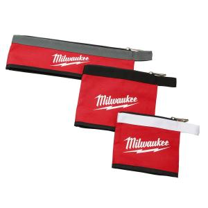 14 in., 8 in. and 6 in. Multi-Size Zipper Tool Bags in Red (3-Pack)