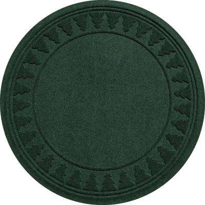 Aqua Shield Evergreen 35 in. Round Pine Trees Under the Tree Mat