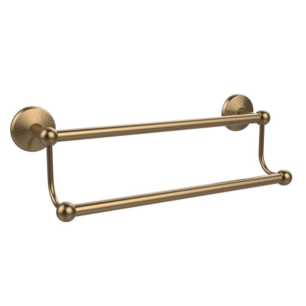 Prestige Monte Carlo Collection 30 in. Double Towel Bar in Brushed