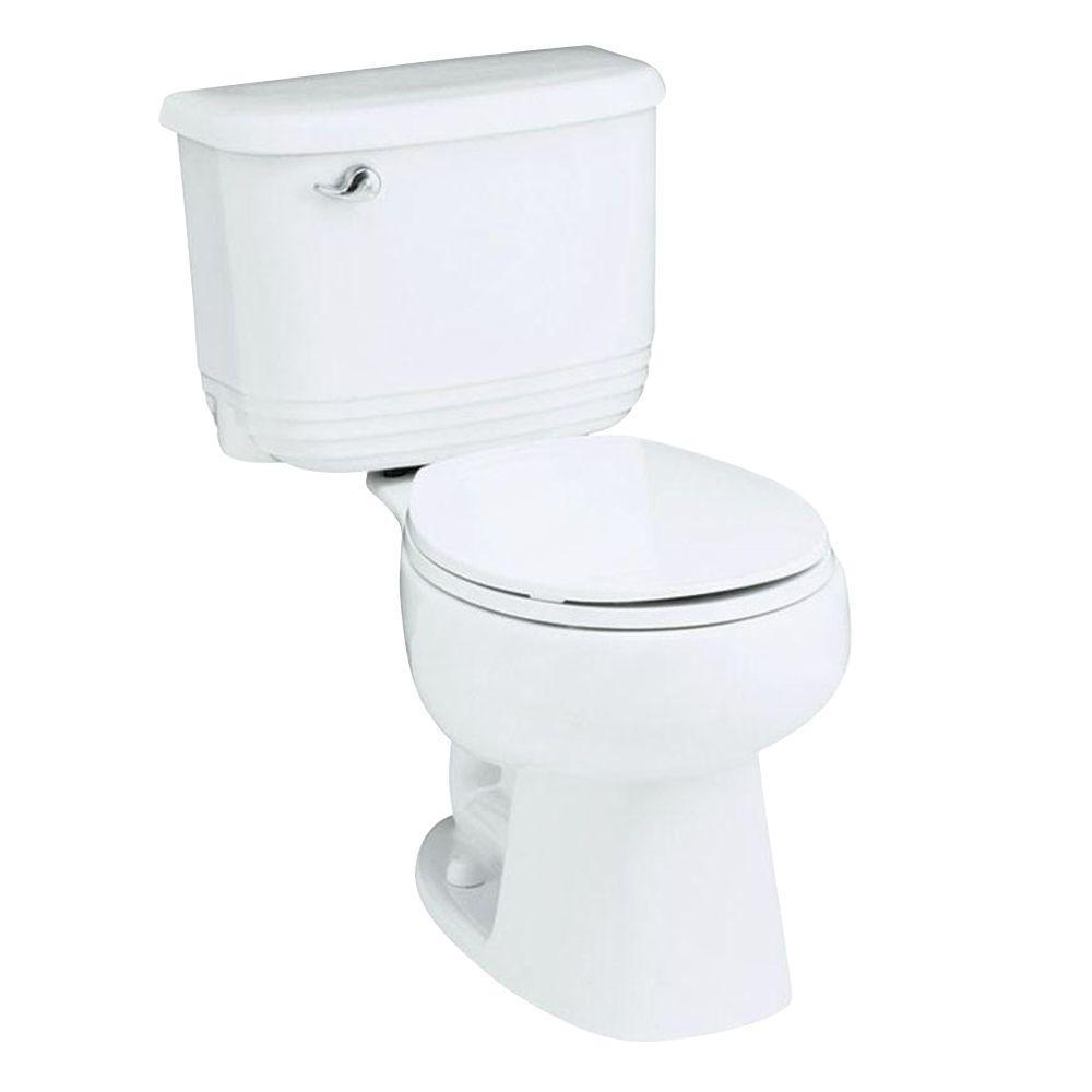 STERLING Riverton 2-piece 1.6 GPF Round Toilet in White