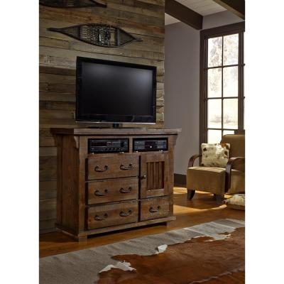 Forrester 4-Drawer Tobacco Media Chest of Drawers