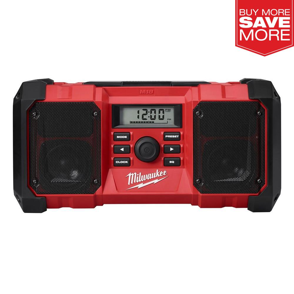 Milwaukee Jobsite Radio Charger 18V Lithium-Ion Cordless Bluetooth Enabled NEW