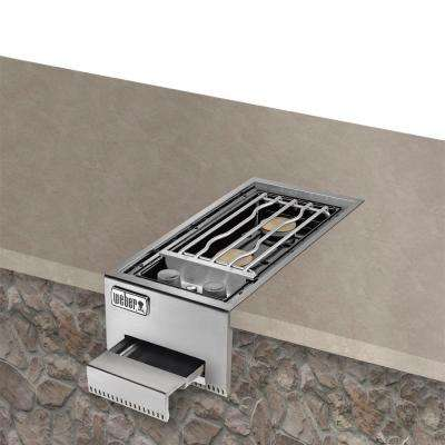 Summit Stainless Steel Built-In Propane Gas Double Side Burner