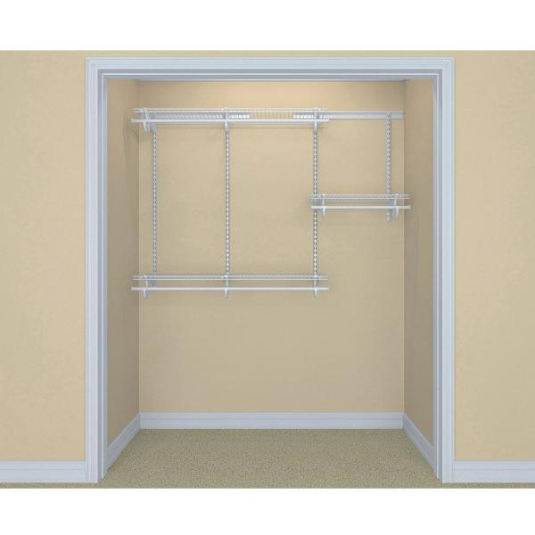 ShelfTrack 13 in. D x 72 in. W x 48 in. H Wire Closet System Organizer Kit