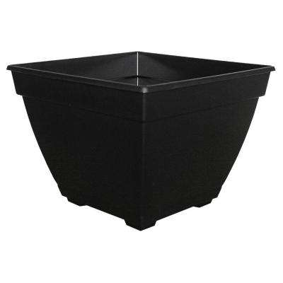 Newbury 15 in. x 15 in. Black Poly Plastic Deck Box