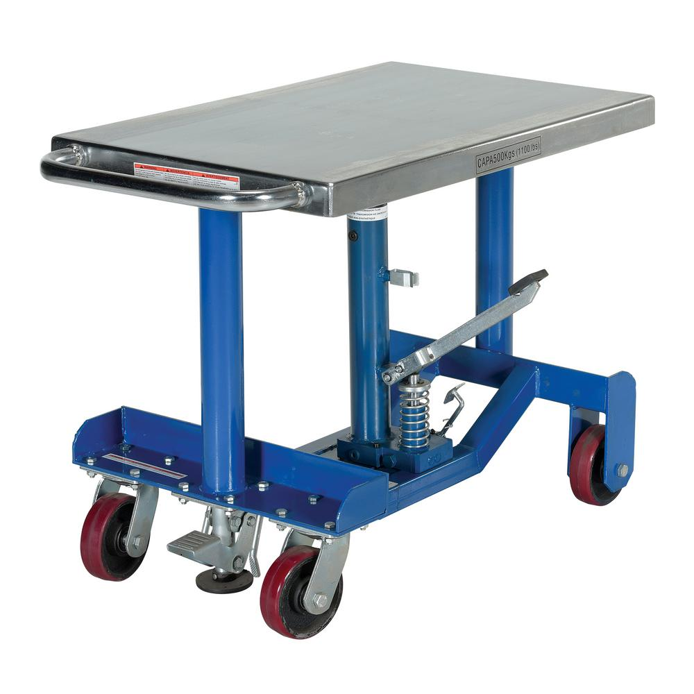 Vestil 1 000 Lb Capacity Low Profile Hydraulic Post Table