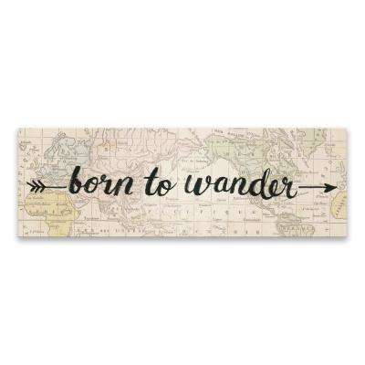 """Born To Wander""  by Lot26 Studio Printed Canvas Wall Art"