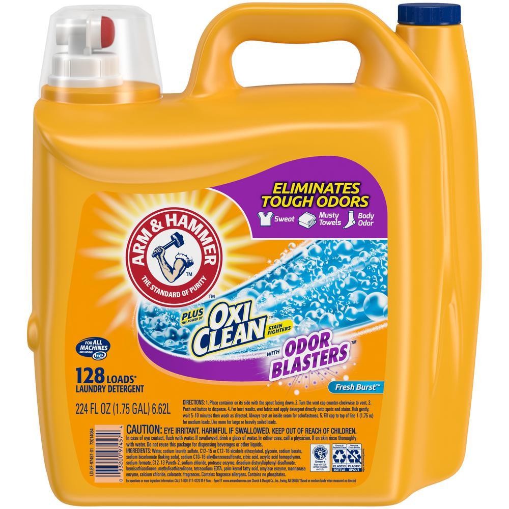 224 oz. Fresh Burst Liquid Laundry Detergent with OxiClean Odor Blasters (128-Loads)