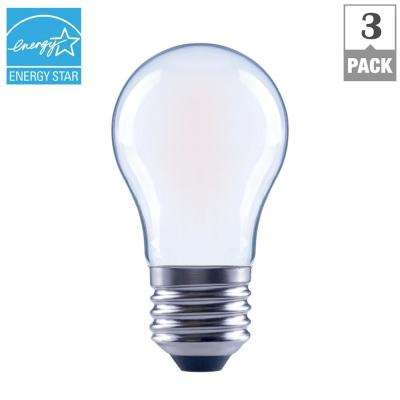 60-Watt Equivalent A15 Dimmable Frosted Filament LED Light Bulb, Soft White (3-Pack)