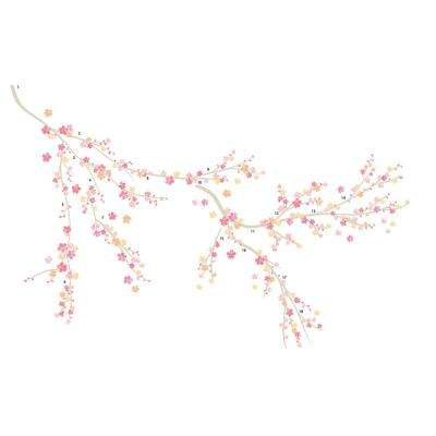 39 in. x 34.5 in. Spring Wall Decal
