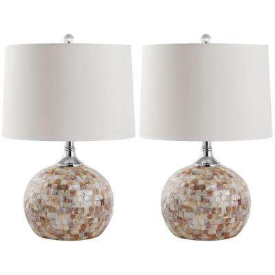 Nikki 21.5 in. Shell Table Lamp (Set of 2)