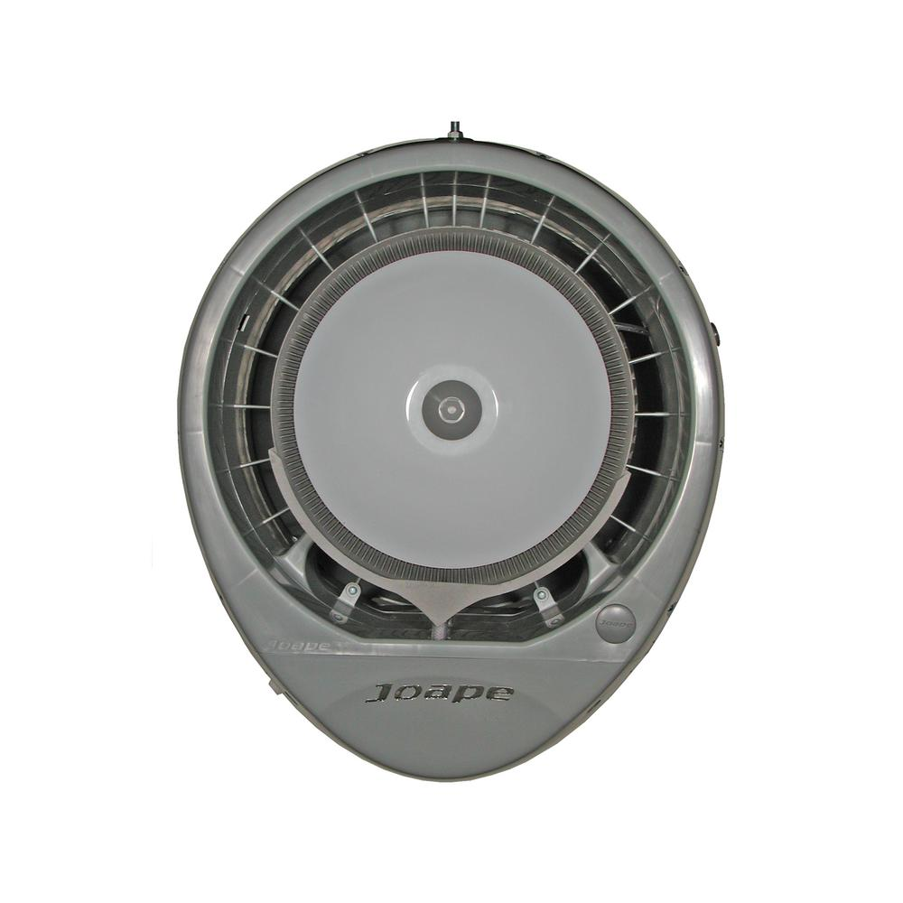 Cyclone 23 in. Wall Mount Misting Fan in Gray, Cools 800