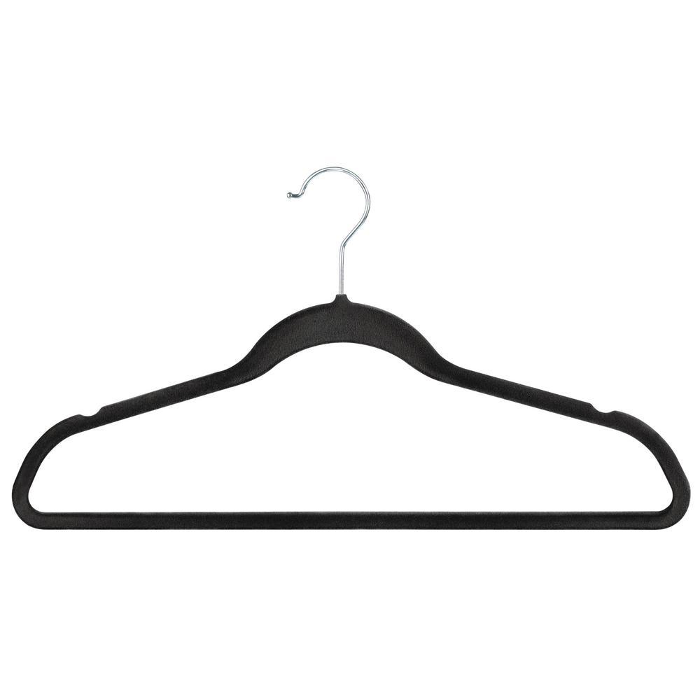 Grey Velvet Hanger (24-Pack)