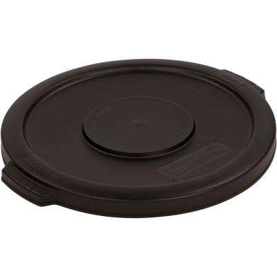 Bronco 55 Gal. Black Round Trash Can Lid (2-Pack)