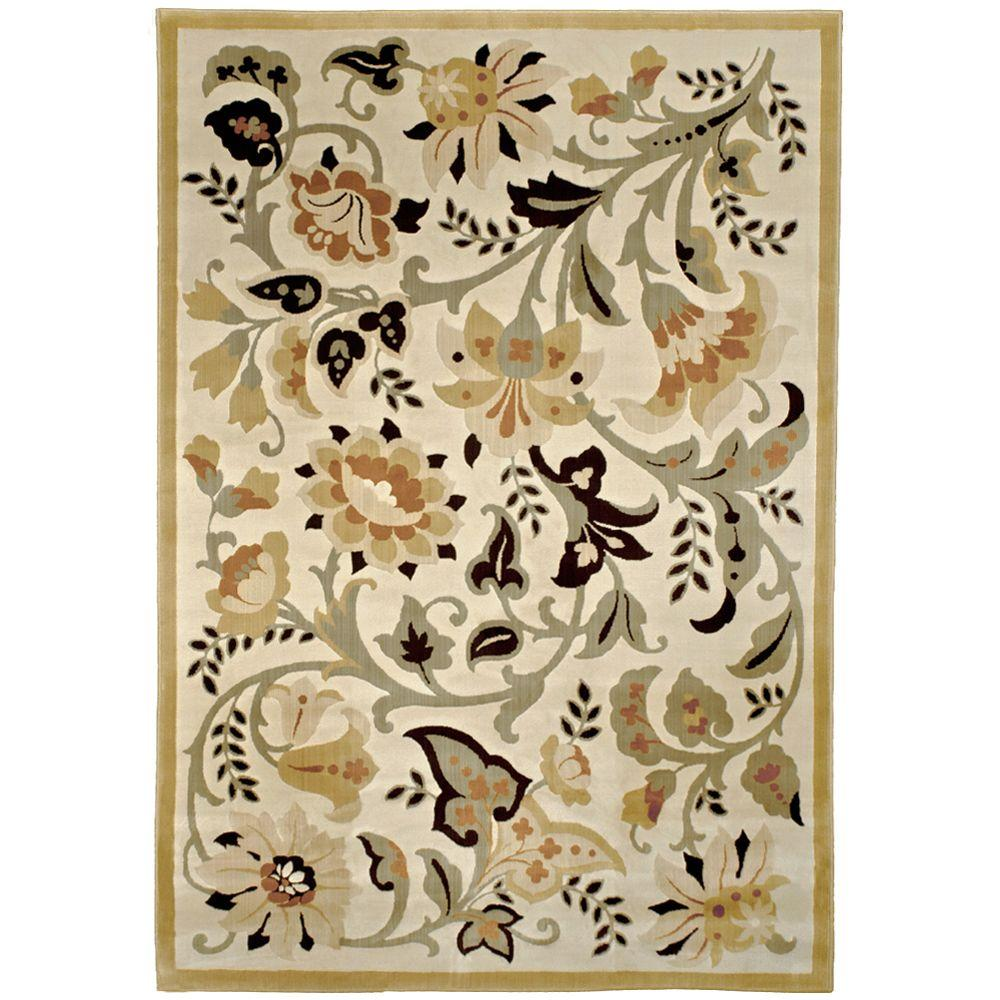 null Devore Sunwashed Beige 7 ft. 10 in. x 10 ft. 10 in. Area Rug
