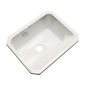 Thermocast Kensington Undermount Acrylic 25 inch Single Bowl Utility Sink in Biscuit by Thermocast
