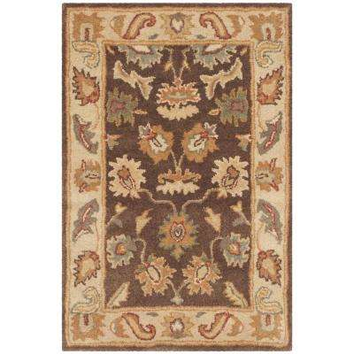 Bergama Brown/Ivory 3 ft. x 5 ft. Area Rug