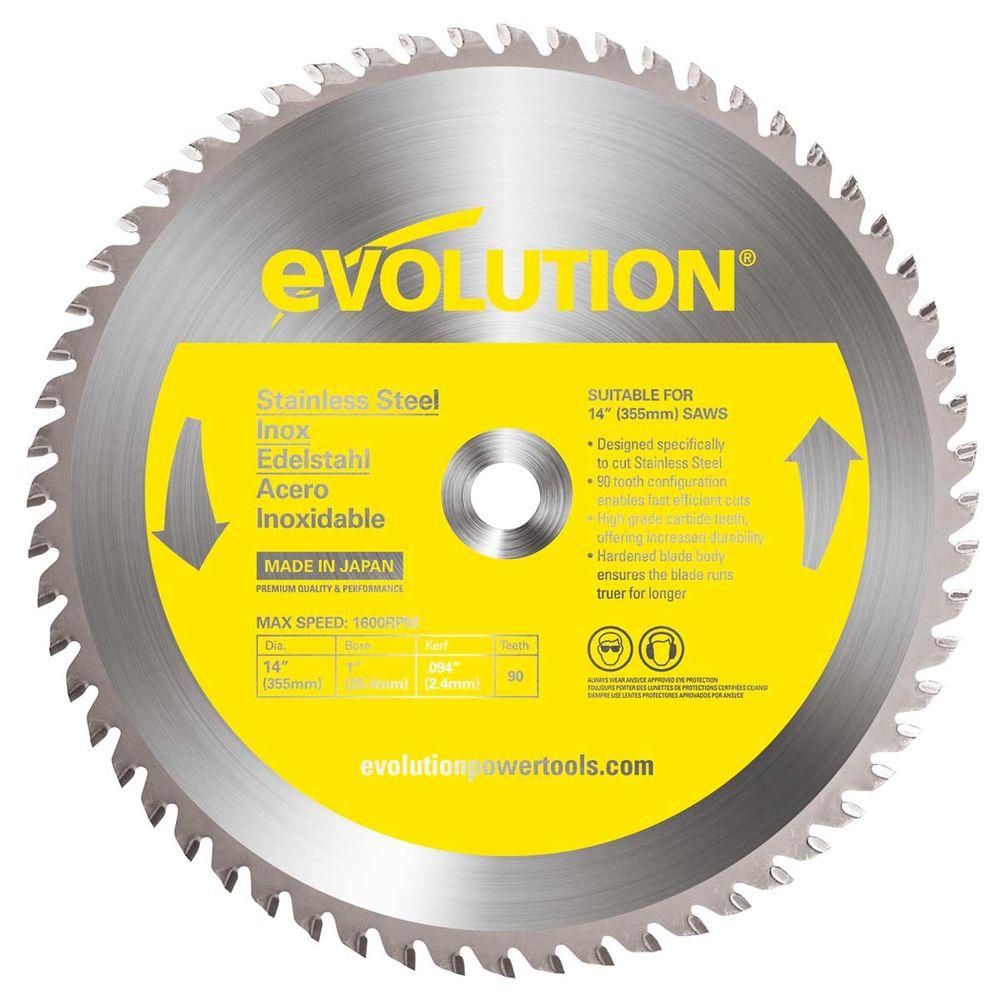 Evolution power tools saw blades power tool accessories the 90 teeth stainless steel cutting saw blade greentooth