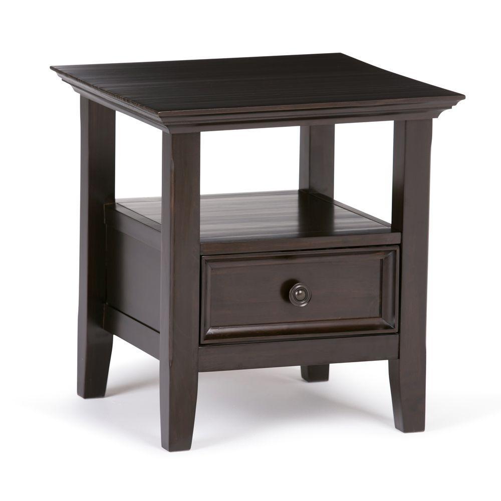 Amherst Dark Brown Storage End Table