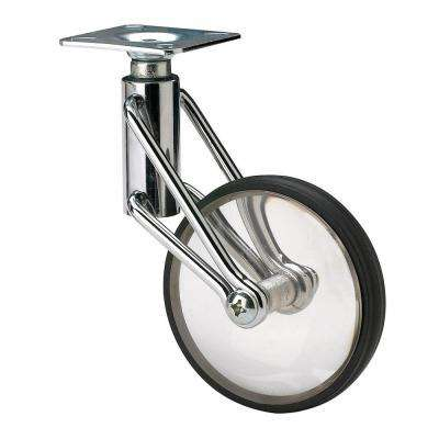 3-5/32 in. Clear Swivel Without Brake Plate Caster, 110 lb. Load Rating