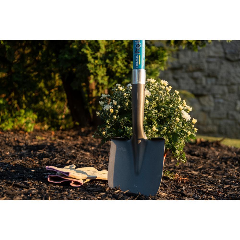 Radius Garden 25802 Pro-Lite Ergonomic Carbon Steel Floral Shovel Green