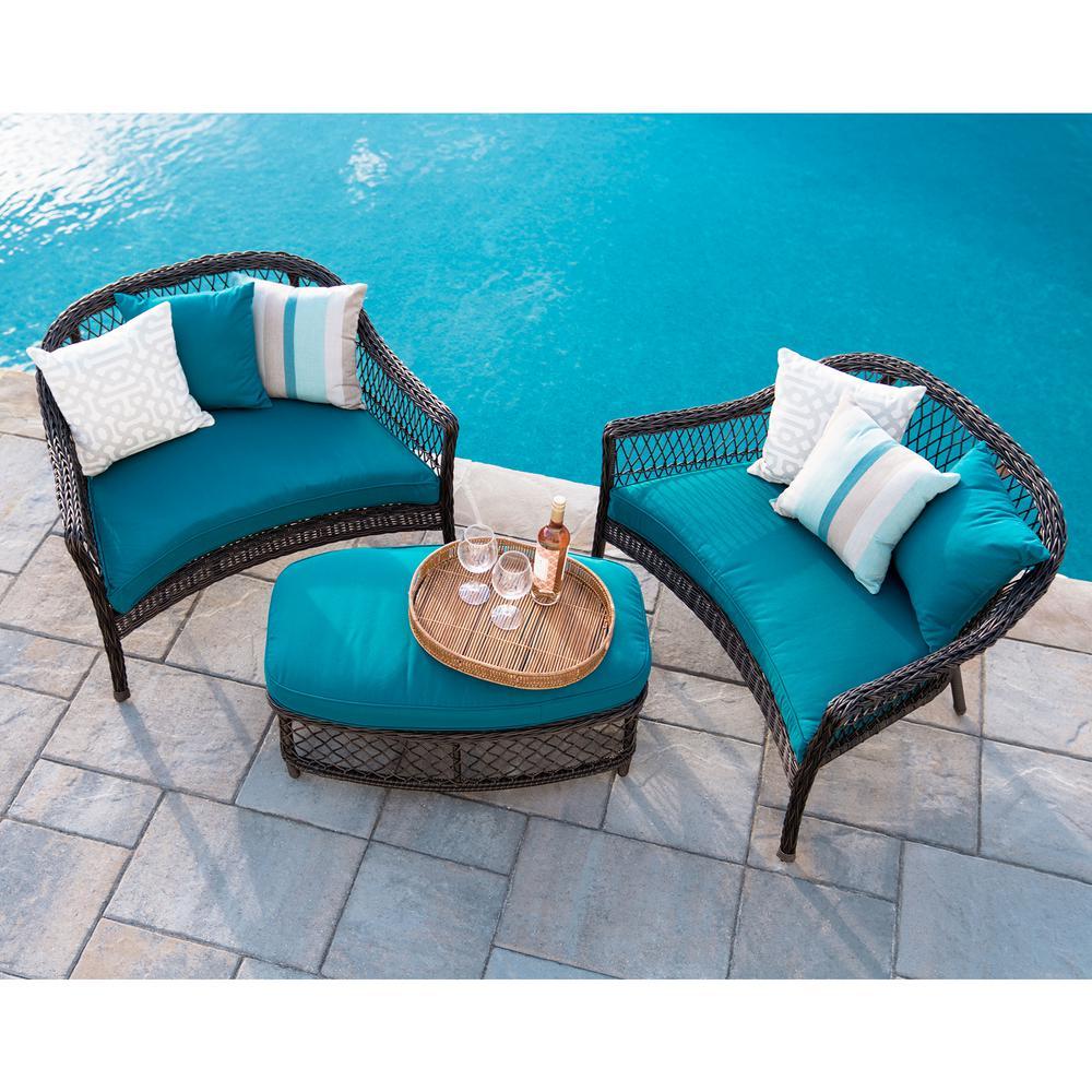 HomeDepot.com deals on Leisure Made Madison 3 Piece Wicker Patio Conversation Set
