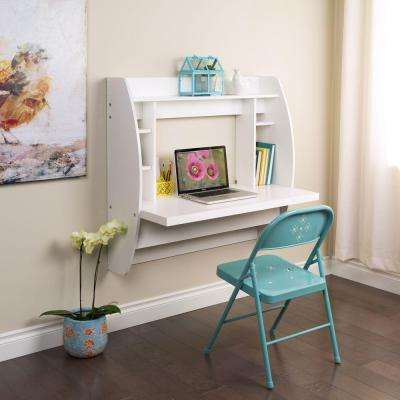White Desk with Shelves