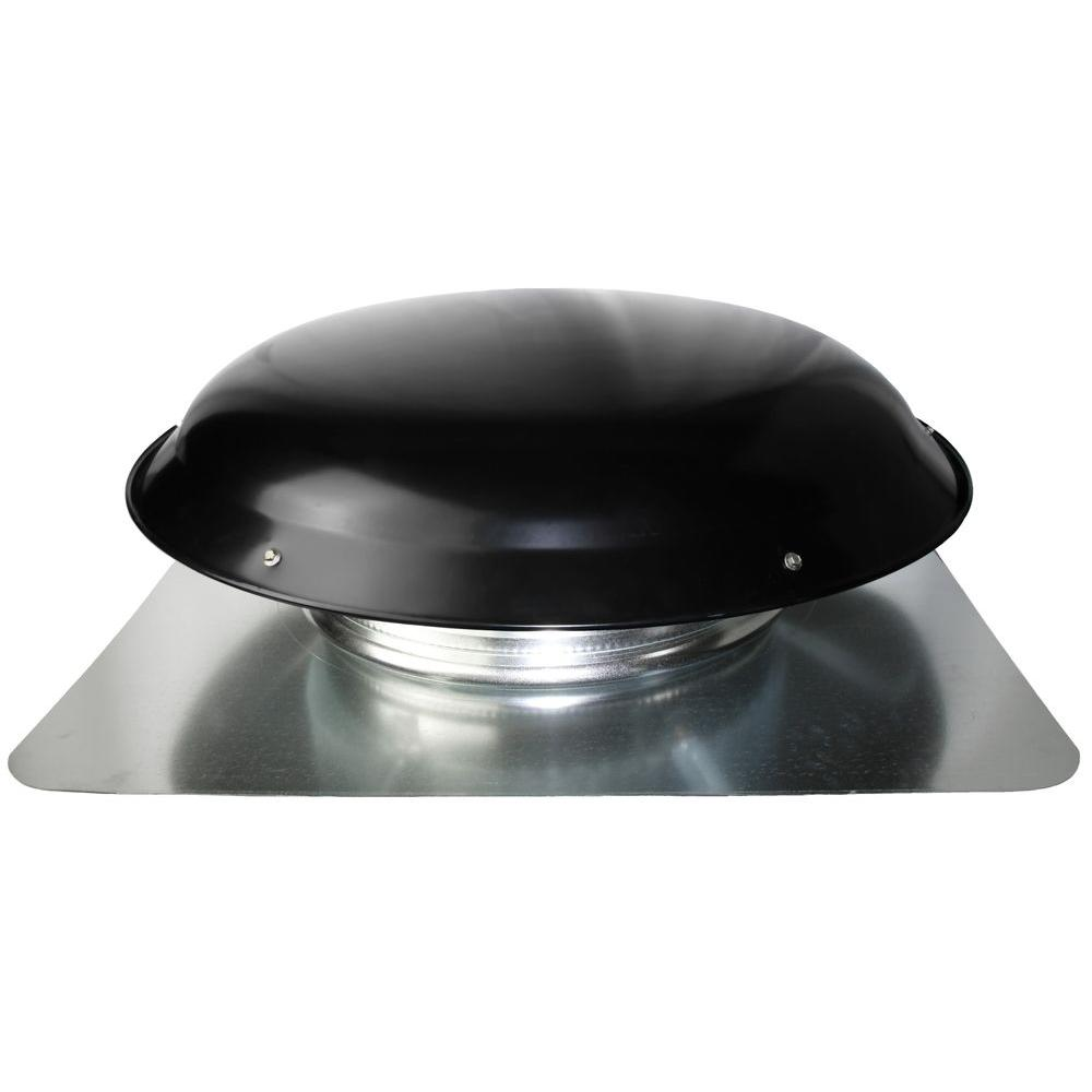 Ventamatic Cool Attic 1600 CFM Heavy-Duty Black Galvanized Steel Power Attic Roof Ventilator