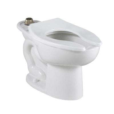 Madera FloWise 16-1/2 in. High Top Spud Slotted Rim Elongated Flush Valve Toilet Bowl Only in White